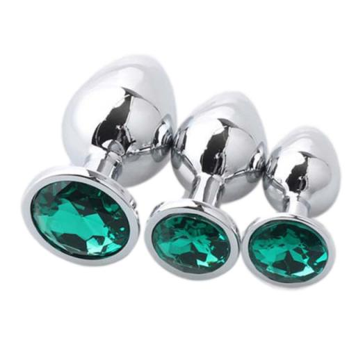 Luvvibes Anal Butt Plug Set of 3 - Green