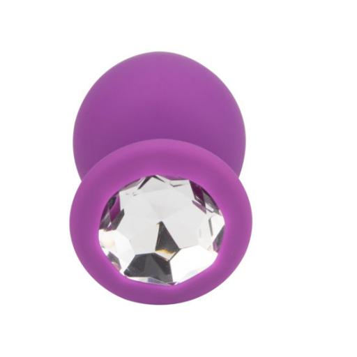 Loving Joy Jewelled Silicone Butt Plug Purple -Large