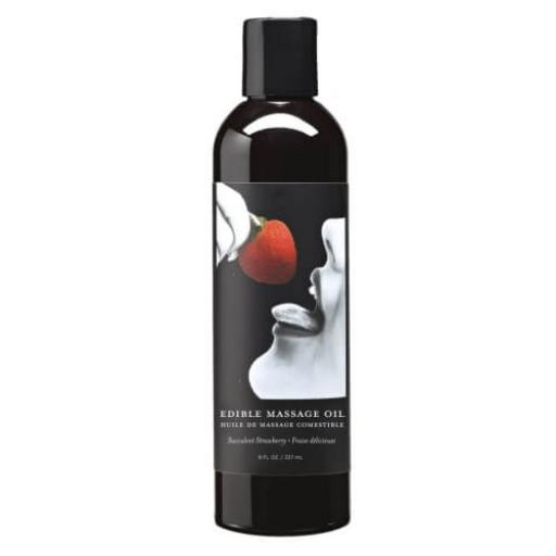 Earthly Body Edible Massage Oil-Strawberry