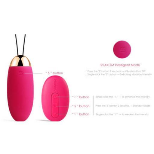 Svakom Elva Remote Control Vibrating Egg Bullet - Red