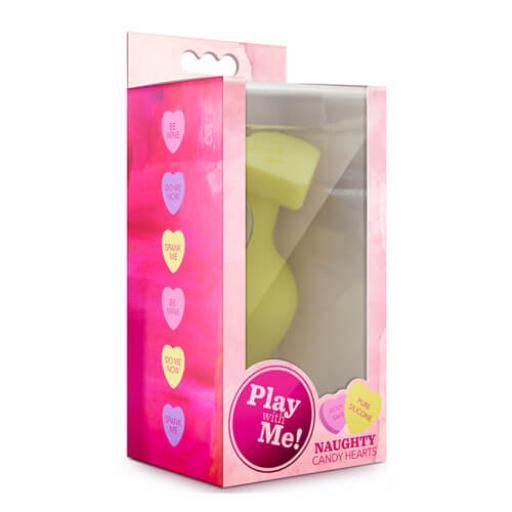 Candy Heart Butt Plug Spank Me Yellow
