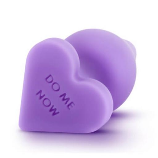 Candy Heart Butt Plug Do Me Now Purple
