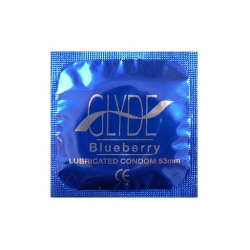 Glyde Ultra Blueberry Flavour Vegan Condoms 100 Bulk Pack