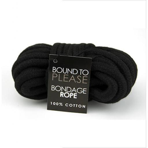 Bound to Please Bondage Rope Black