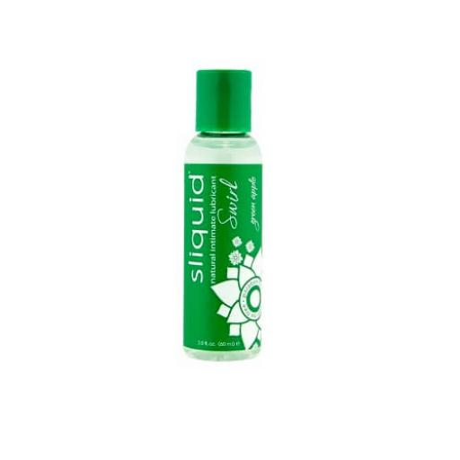 Sliquid Naturals Swirl Flavoured Lubricants-Green Apple 59ml