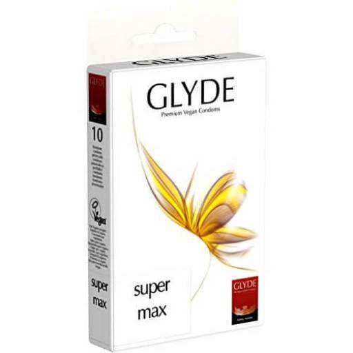 Glyde Ultra Super Max Vegan Condoms 10 Pack